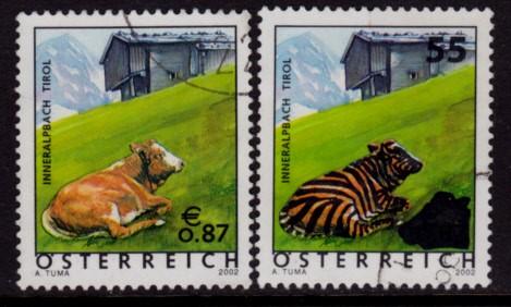 Die Aufdrucke von 2005 Austria-Scott-Nr-1875-1985