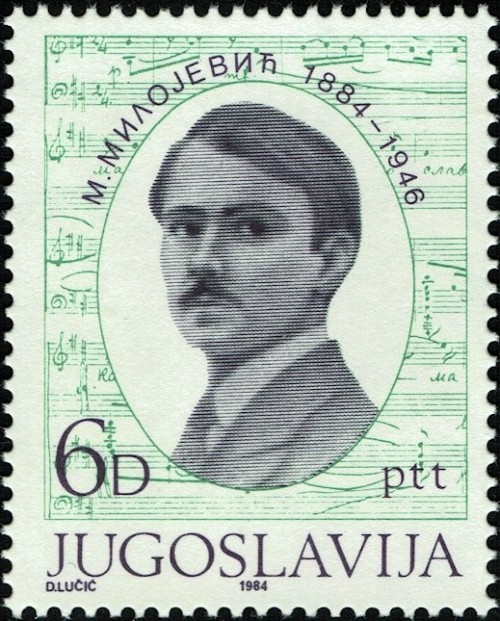 Issued for the birth centenary of of Serbian composer/conductor/teacher Miloje Milojevic (1884-1946).