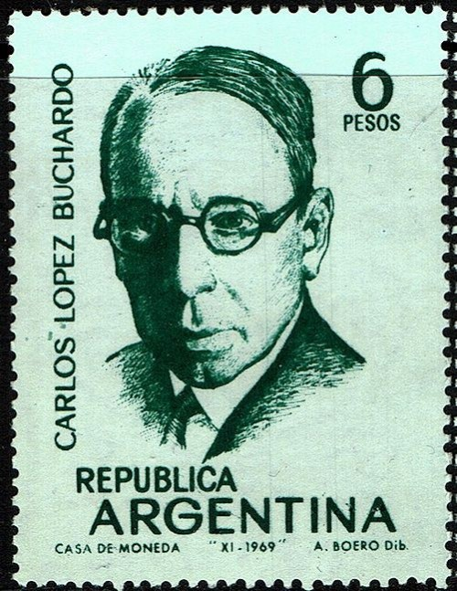 From the 1969 set of Argentine composers, Scott Nr 908-12.