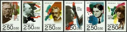 France, Scott Nr B642 647 (1992)
