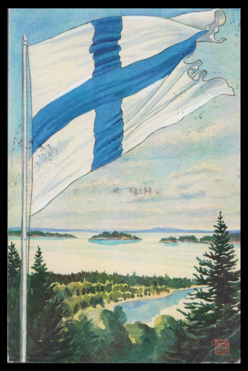 Finland Flag postcard from St. Paul looks like the U.P. 2021-0216